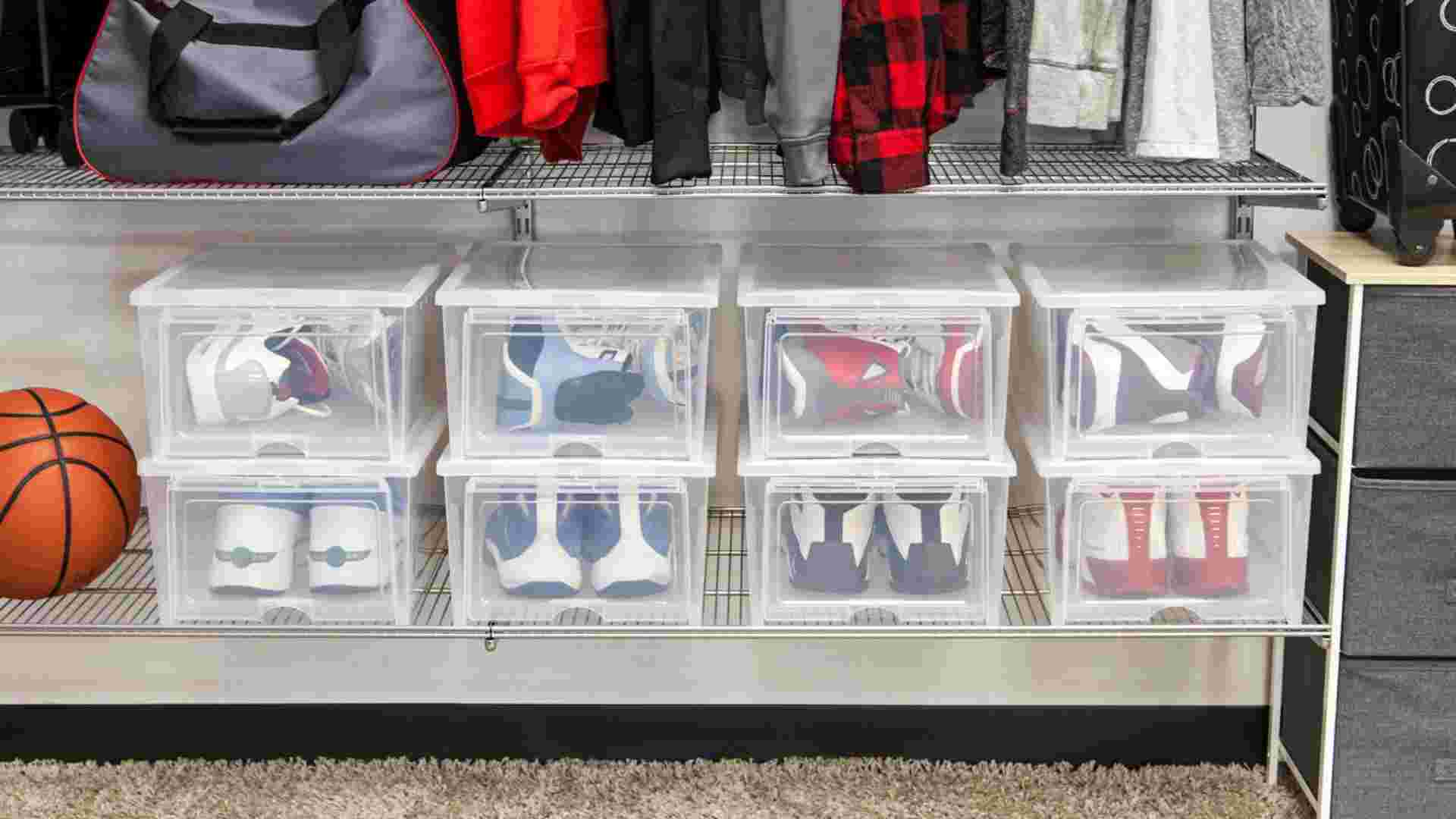 IRIS High Clear Pull Down Front Access Shoe Box