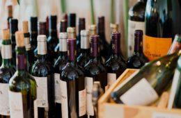 wall-mounted racks for wine