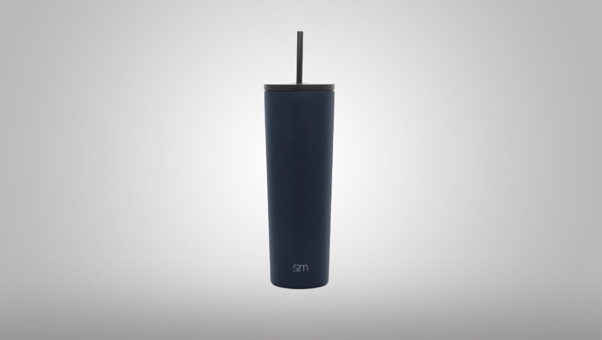 Simple Modern Tumbler with Straw Lid