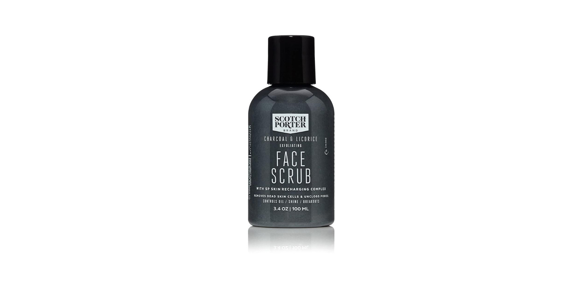 Scotch Porter Charcoal and Licorice Exfoliating Men's Face Scrub