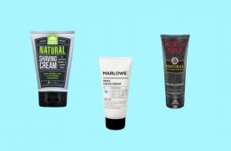 Natural shaving cream for men