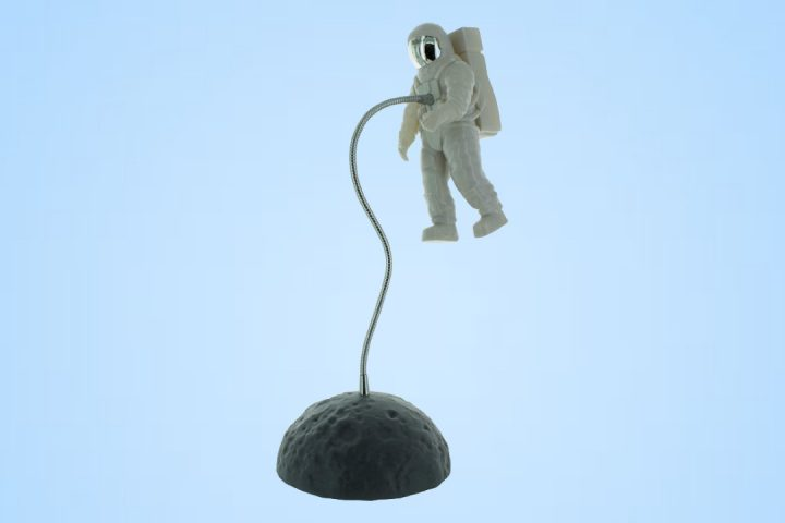 Floating in Space Astronaut Desk Lamp Light